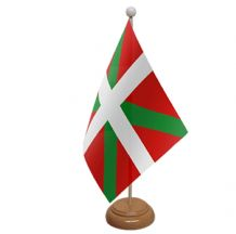 BASQUE - TABLE FLAG WITH WOODEN BASE
